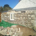 The Hafod cottage-building of wall