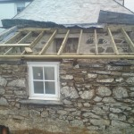 The Hafod cottage-adding roof
